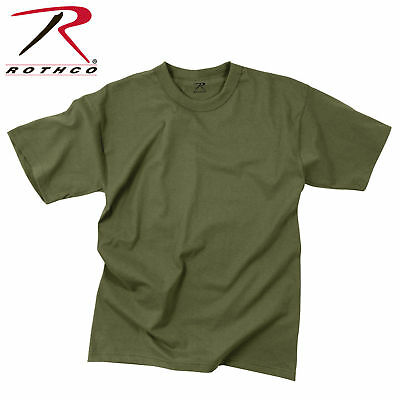 Army Solid Od Green Olive Drab  Mens Rothco T-Shirt Made In Usa Big Mens  4X 5X