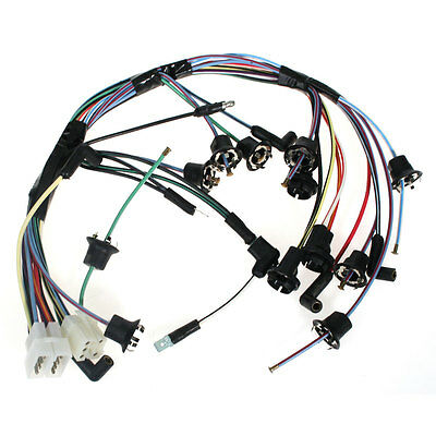 Mustang Instrument Cluster Wiring Harness With Trachometer 1968