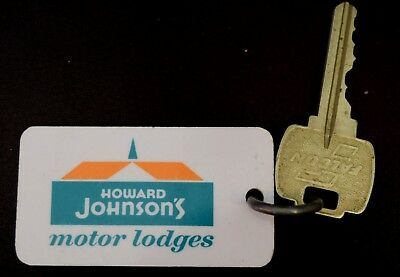 Vintage Howard Johnsons Pensacola, FL Hotel Motel Room Key & Fob Room #202