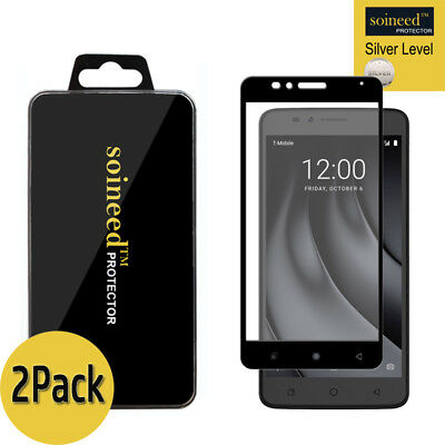 2-PACK PREMIUM TEMPERED Glass Screen Protector for T-Mobile REVVL 2