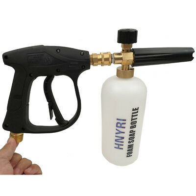 1L Soap Car Foam Lance Cannon with Washer Gun Pressure Foamer Wash Jet Bottle