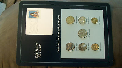 Coin Sets of All Nations Uruguay w/card 1980-1981 UNC Zabala 1 New Peso 1980