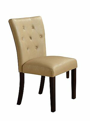 Magnificent Acme Rolo Side Chair Cream Pu Chrome Set Of 2 81 79 Bralicious Painted Fabric Chair Ideas Braliciousco