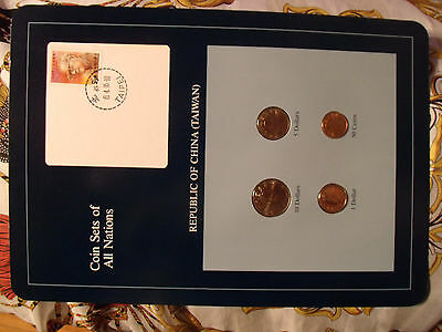 Coin Sets of All Nations China (Taiwan) w/card UNC 1984-1992 10 Yuan 1992