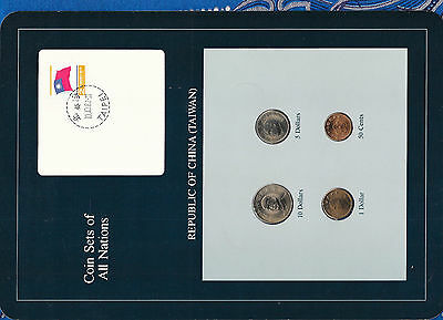 Coin Sets of All Nations China (Taiwan) w/card 1981-1986 UNC 1, 10 Yuan 1983