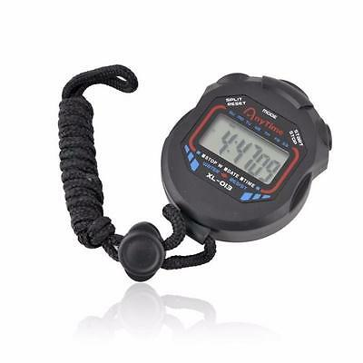 Digital LcD Chronograph Sports Counter Stopwatch Handheld Timer Alarm Stop Watch