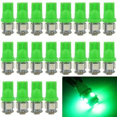 100pc Green T10 5 SMD 5050 LED Car Side Wedge Tail Light Lamp 192 194 168 W5W