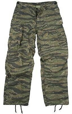 US Field Pants Army Tiger Stripe Cotton Ripstop Camouflage Trousers XL