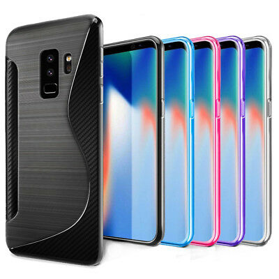 S Line Soft Gel TPU Silicone Case Skin Cover For Samsung Galaxy S9 S9+ Plus