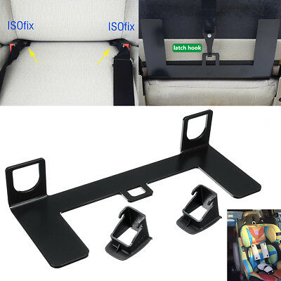 Universal Car Child Safety Seat Belt Steel Bracket Mount Base For ISOFIX Latch