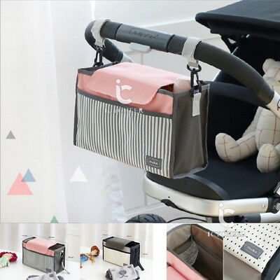 Baby Pushchair Trolley Storage Bag Stroller Cup Carriage Pram Organizer Hanging