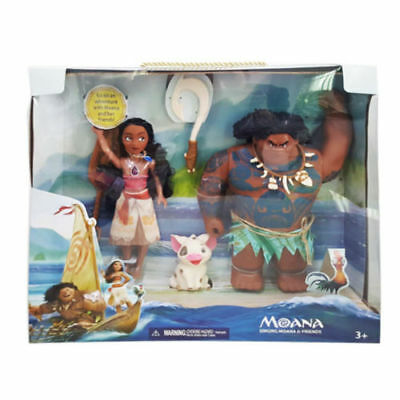 Disney Moana & Friends Maui Action Figures Singing Doll Toy Gift Light Song Kids