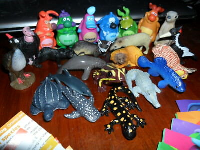 Yowies * New Ranger Series * All 23 Base Set 17 Animals & 6 Yowie Men + Papers
