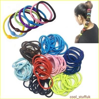 New Quality Thick Endless Snag Free Girls Hair Elastic Bobbles Bands Ponies Mix