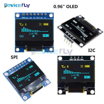 "0.96"" I2C IIC SPI Serial 128X64 OLED LCD LED Display Module for Arduino"
