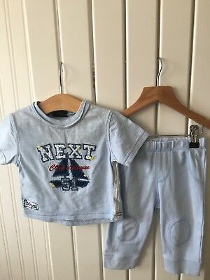 Baby Boy S Clothes 6 9 Months 2pc Outfit Blue Next Top Trousers