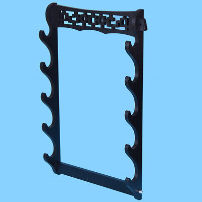 5 Layers Vintage Samurai Sword Stand Bracket Retro Wall Mount Holder Wakizashi