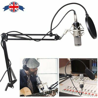 BM800 Audio Vocal Studio Condenser Microphone Kit Microphone Kit with Arm Stand
