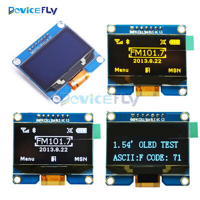 1.54inch White/Blue/Yellow OLED Display Module SPI Interface 3.3-5V SSD1309