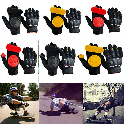 2PC Longboard Skateboard Protect Brake Gloves Downhill Slide Racing Brake Gloves
