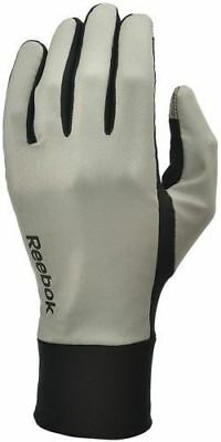 reebok reflective running glove size small mens womens fitness jogging new