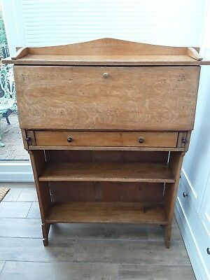 Arts and Crafts Oak Bureau Bookcase, Desk c1900