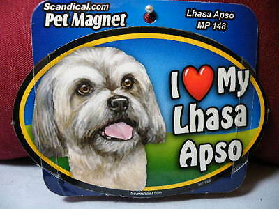 I Love My Lhasa Apso Mp 148 Pet Magnet Scandical