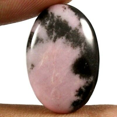 17.05cts Natural Awsome Quality Untreated Rhodonite Gemstone Oval Loose Cabochon