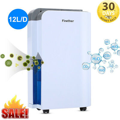 12L/D Electric Air Dehumidifier Dryer Moisture Damp Mould Drying Home Drying UK