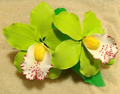 edible sugar orchid flower spray for cake decoration 1pcs