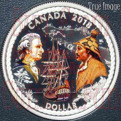 2018 240th Anniv. Captain Cook Nootka Sound $1 Special Edition Silver Dollar Set