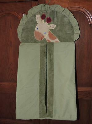 NOJO JUNGLE BABIES DIAPER STACKER GIRAFFE GREEN incl cardboard bottom