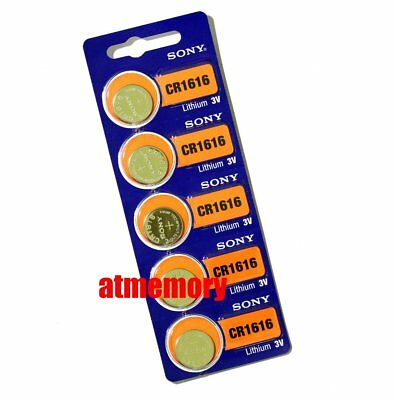 Sony CR1616 CR 1616 3V Coin Cell Button Battery x 5pcs Japan Genuine Exp.2027