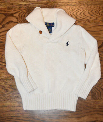 Polo Ralph Lauren Oatmeal Colored Sweater Ivory Boys size 4