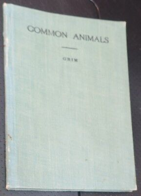 1909 Book,Determinations of Some Common Animals by Grim,animal species,names,IDs