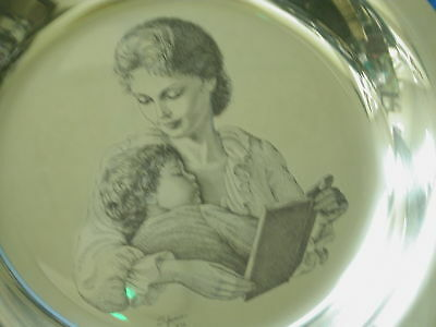 Mother's Day Mother & Child sterling silver Irene Spencer plate