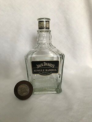 Jack Daniel's Single Barrel 750ml empty Whiskey Bottle Wooden Stopper