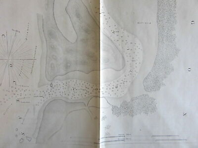 Oregon Coquille River Nautical Chart 1862 US Coast survey Alden & Bache