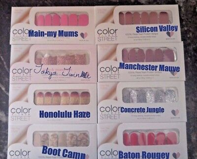Color Street nail polish strips NIP Buy3+Get 5 FREE Accent Nails