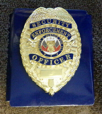 Co Closed selling out stock-Gold Security Enforcement Officer Badge-NEW