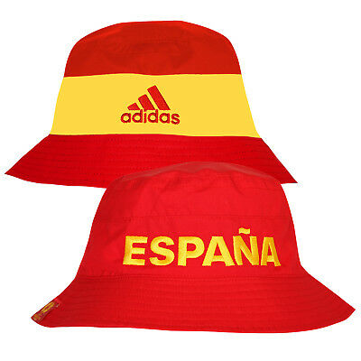 adidas Spain Reversible Bucket Hat Summer Holiday Sun Stag Hen Spanish Football