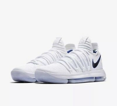 """4025f85fab73 NIKE ZOOM KD10 """"Numbers"""" Men s Size 14 White Warriors 897815-101 Kevin  Durant -  119.99"""