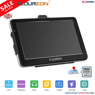 "7"" Truck&Car GPS Navigation Free EU UK Lifetime Maps 8GB SAT NAV Navigator Touch"