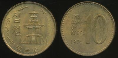 Korea-South, Republic, 1974 10 Won - Uncirculated