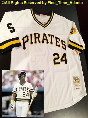 buy online 78f68 79677 NEW BARRY BONDS 1986 Pittsburgh Pirates Men's Home / White Rookie Retro  Jersey