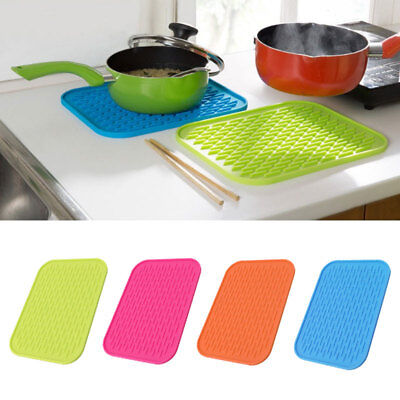 Silicone Non-Stick Slip Kitchen Food Mat Pad Insulated Heat Resistant Pan New.