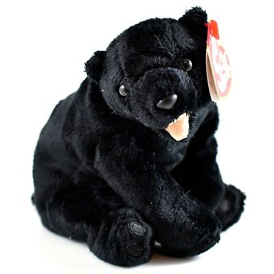 2000 TY Beanie Baby Cinders Black Bear Retired Beanbag Plush Toy