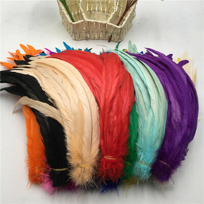 Hot 10-100pcs beautiful high quality cock tail feathers 12-14 inches / 30-35 cm