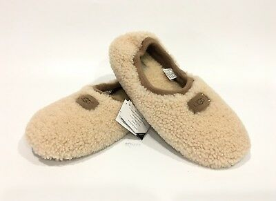 e2bb224f5fd UGG BIRCHE SHEEPSKIN Slippers Natural White Fur -Women's Us Size 10 -New