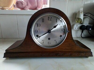 Dual Chime Napoleon Hat Mantle Clock Fwo